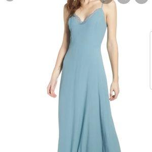 Leith Lace Trim Maxi Dress SZ S NWT Nordstrom
